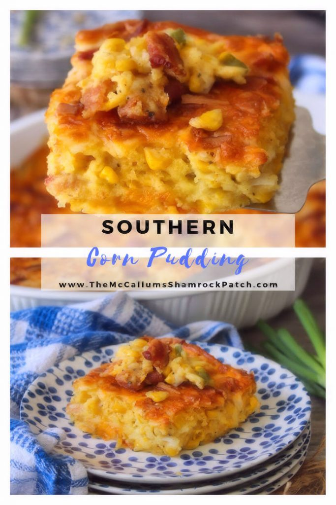 Southern Corn Pudding Casserole is the iconic classic delicious casserole that was made by grannie, especially for Sunday dinners, holidays, and church potlucks, that has a sweet, cheesy golden layer, and a delicious, creamy corn center.