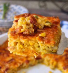 Southern Corn Pudding Casserole is the iconic classic delicious casserole that was made by grannie, especially for Sunday dinners, holidays, and church potlucks