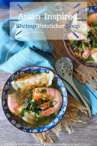Asian Shrimp Potsticker Soup
