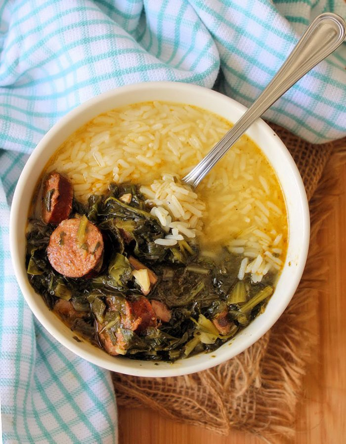 Southern Greens and Sausage Soup