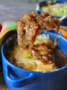 You can not get an Onion Soup recipe more authentic than this fantastic French Onion Soup that I sat handwriting as I watched the cooking show Julia Child starred in called The French Chef on my computer in black and white.