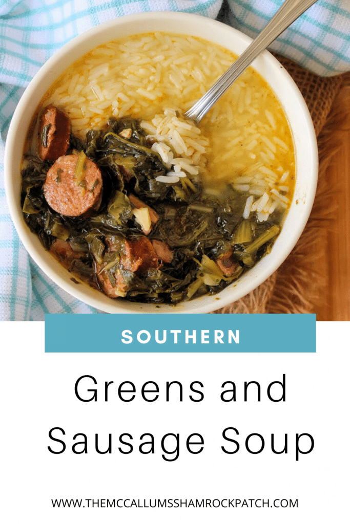 Dig into this Hearty Southern Greens and Sausage Soup recipe for a portion of deliciously flavorful comfort food at it's finest. Assorted greens, Andouille sausage, smoked sausage, Chaurice sausage and ham hocks served over rice provide a big bowlful of substance and flavor.
