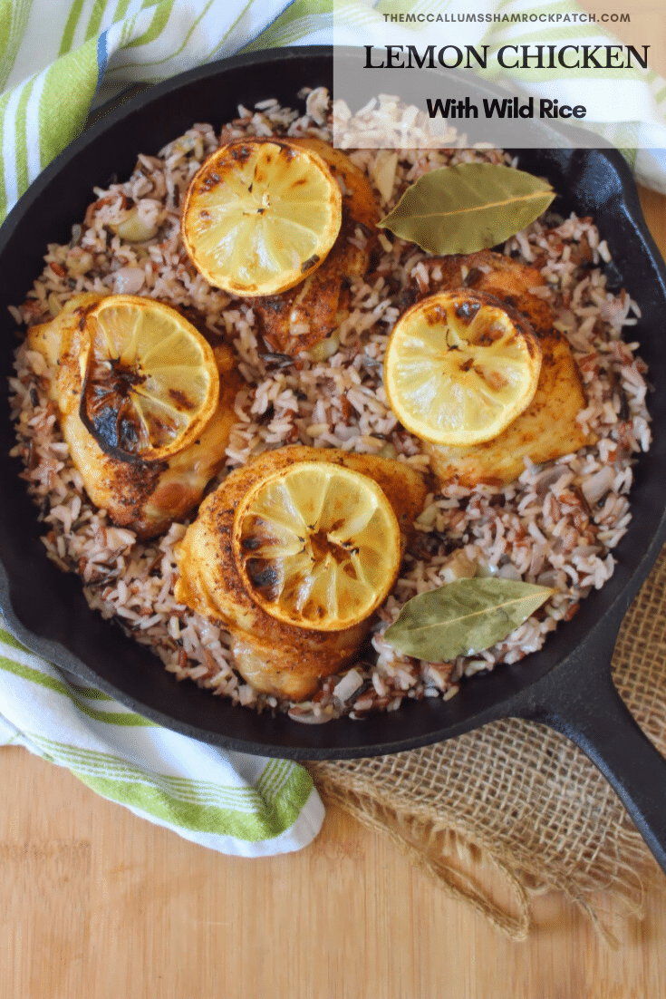 Lemon Chicken with Wild Rice