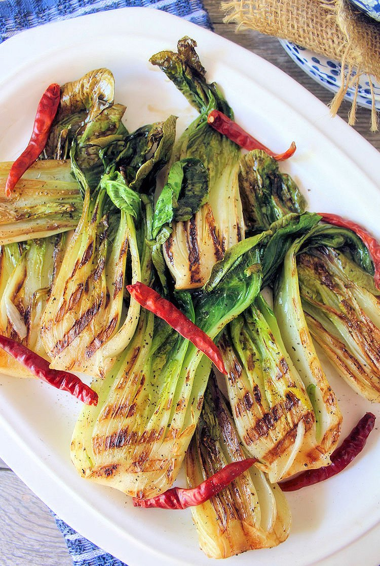 Grilled Bok Choy The Mccallum S Shamrock Patch