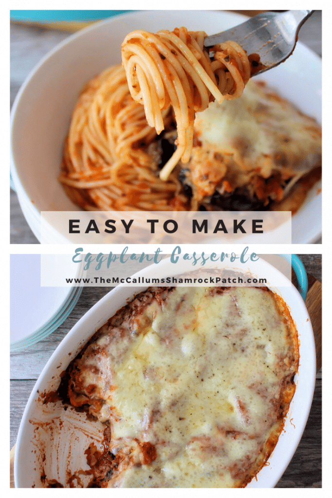 Eggplant Casserole is delicious and reasonably straightforward to make. It's has a similar taste to Eggplant Parmesan. It is made with fried Eggplant,  a simple Homemade Red Sauce, sliced provolone cheese, and topped with finely shredded mozzarella. It's the perfect pairing with pasta for a flavorful meatless meal.
