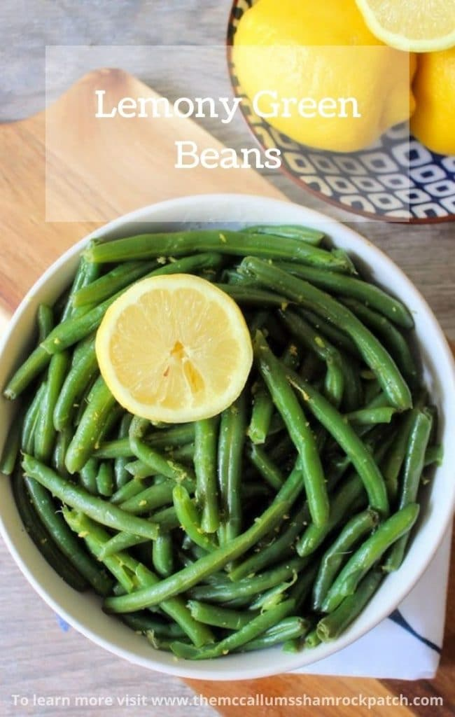 These deliciously lemony flavored green beans are quick and easy to make using an Instant Pot or pressure cooker. Lemony Green Beans are the perfect side for almost any meal and take only about 10 minutes to make using an electric pressure cooker or Instant Pot.