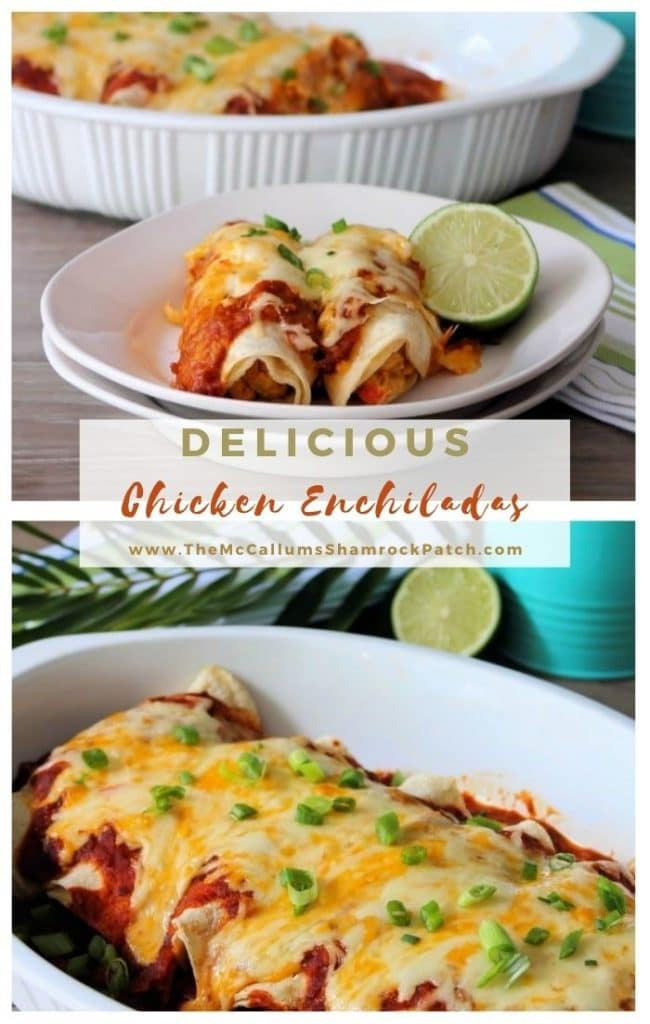 Chicken Enchiladas with Red Sauce are so darn good; you may want to make two batches of this Delicious Chicken Mexican goodness wrapped in fresh corn tortillas with fabulous homemade red sauce.