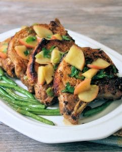 These deliciously flavorful Apple and Bourbon infused pork chops are a great fall or anytime meal. Make them on the stovetop or in the Crock-Pot.