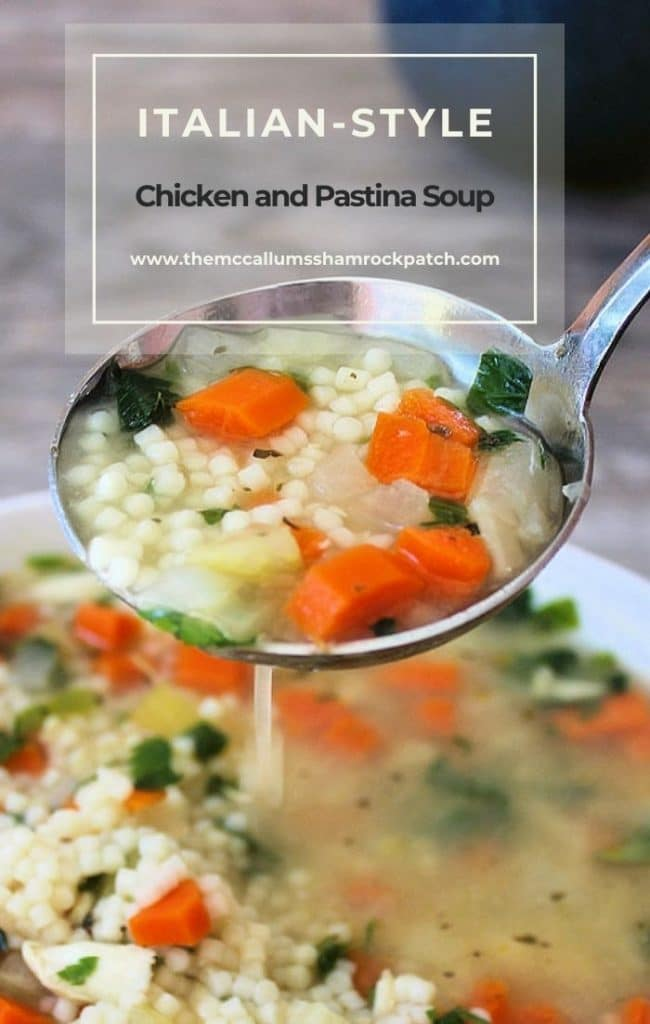 Homemade Italian Chicken Pastina Soup is a deliciously heart-warming soup that's made from wonderful childhood memories in Nonna's kitchen.