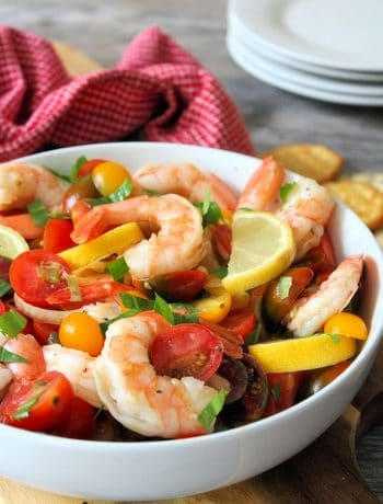 Shrimp and Tomatoes are the perfect starter or an appetizer to serve all year long, including the Christmas and New Year's Holidays. This Shrimp and Tomatoes recipe goes perfectly well with slices of crusty bread or artesian-style crackers and a glass of your favorite wine.