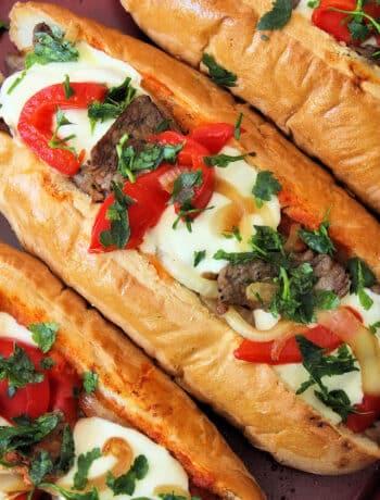 Italian Cheesesteak Sandwiches