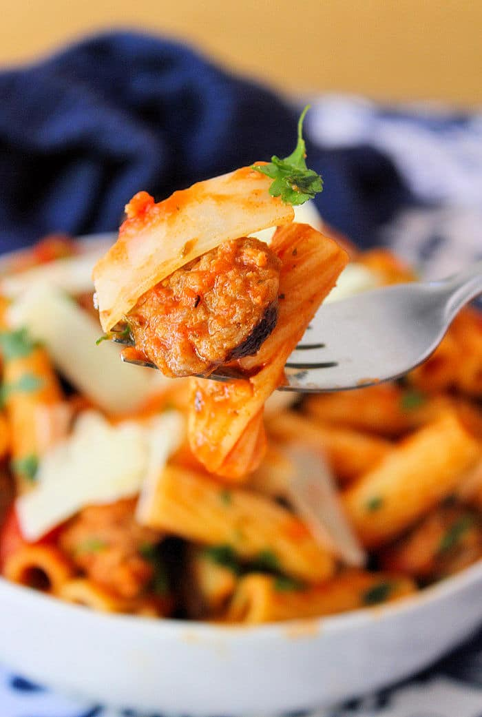 Organic Rigatoni and Sausage