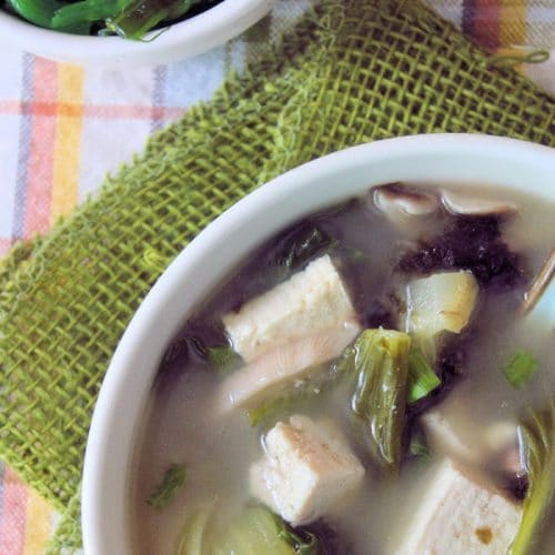 Miso Soup with Bok Choy