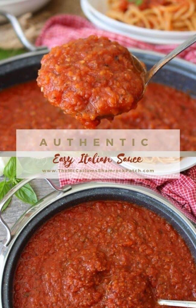 Easy Authentic Italian Sauce